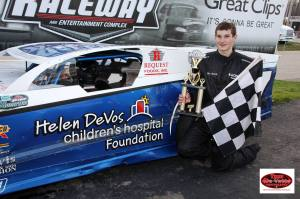 RacingAwareness.com 97L Modified with driver Ben Welch.  Feature winner, May 3, 2014 Photo by Tom DeVette